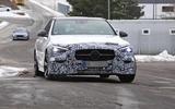 Mercedes C-Class prototype spies front