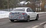 Mercedes C-Class prototype spies rear side