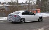 Mercedes C-Class prototype spies side rear