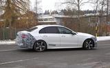 Mercedes C-Class prototype spies side
