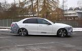 Mercedes C-Class prototype spies side on