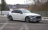 Mercedes C-Class prototype spies side front