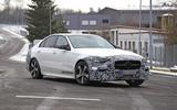Mercedes C-Class prototype spies front side