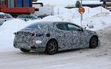 Mercedes EQ E spyshots rear sde