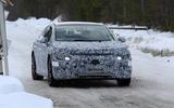 Mercedes EQ E spyshots front