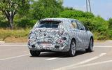 Mercedes EQE spyshot rear