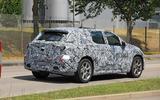 Mercedes EQE spyshot rear side