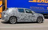 Mercedes EQE spyshot side 3/4 truck