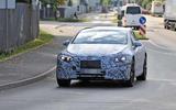 Mercedes EQS spyshots front far
