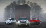 Mini Countryman Cooper S v Nissan Juke Nismo RS v Audi Q2 Sport - group test