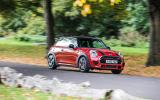 Mini JCW hatch cornering