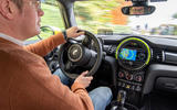 Mini Electric 2020 first drive review - Matt Saunders driving
