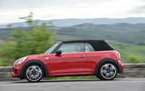Mini JCW Convertible roof up