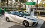 Hydrogen-fuelled Toyota Mirai