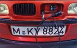 1992 BMW E1 charging port