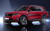 2020 Kia Sorento official render - front