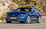 Ford Mustang 2.3 EcoBoost 2018 review cornering front