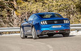 Ford Mustang 2.3 EcoBoost 2018 review cornering rear