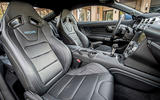 Ford Mustang 2.3 EcoBoost 2018 review front seats