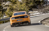Ford Mustang rear cornering