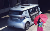 NEVS Sango self-driving shuttle - rear