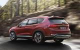 Hyundai Santa Fe 2018 first drive review hero rear