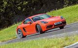 Porsche 718 Cayman drifting
