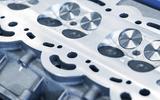 Aston Martin V6 engine cylinder detail
