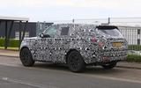 New Range Rover spyshot side rear 2