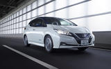 Nissan Leaf 2018 on the road