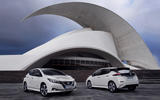 Nissan Leaf front and rear