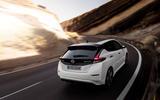 Nissan Leaf rear cornering