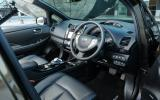 The Nissan Leaf Tekna interior