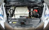 The Nissan Leaf engine bay