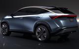 Nissan Ariya close up