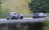 Nissan Qashqai spyshot rear with rival