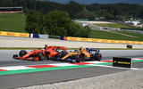 Norris and Vettel racing