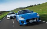 Jaguar F-Type and Audi R8