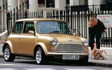 Gold Rover Mini parked
