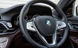 BMW 730Ld steering wheel