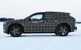 BMW iNext electric SUV winter testing