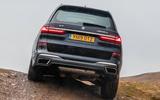 BMW X7 30d M Sport 2019 UK review - rear under