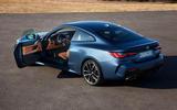2020 BMW 4 Series Coupe - rear, doors open