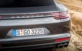 Porsche Panamera Turbo quad-exhaust system