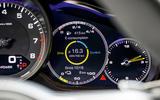 Porsche Panamera Sport Turismo hybrid readout