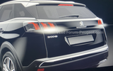 Peugeot 3008 facelift leaked images rear side