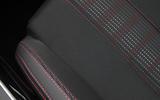Peugeot 308 part-leather stitched seats