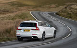 Volvo V60 T8 Polestar Engineered 2019 UK first drive review - on the road rear