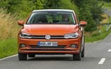 Volkswagen Polo on the road