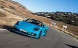 Porsche 718 Boxster GTS cornering